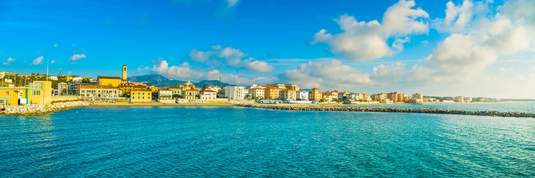 Image of San Vincenzo beach as concept for wise living over 50s travel destinations guides - from Route 66 to bucket list ideas