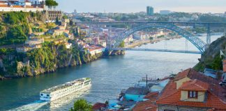 Image of a river cruise on the river Douro, Portugal, one of many types of river cruises Europe