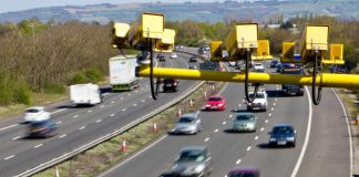 Image of average speed cameras - one of the major types of speed cameras in operation in the UK