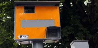 Image of a Gatso speed camera ready to issue speeding fines