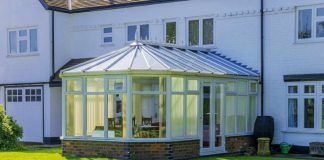 Image of a Victorian conservatory in a UK garden