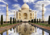 Taj Mahal in morning light as one of the destinations for bucket list ideas.