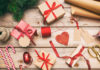 Photo of presents and ribbons showing Christmas wrapping hacks