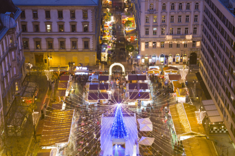 Christmas Market By Air – Budapest