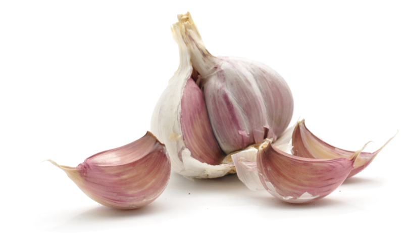 Menopause remedies – cloves of Garlic isolated on a white background