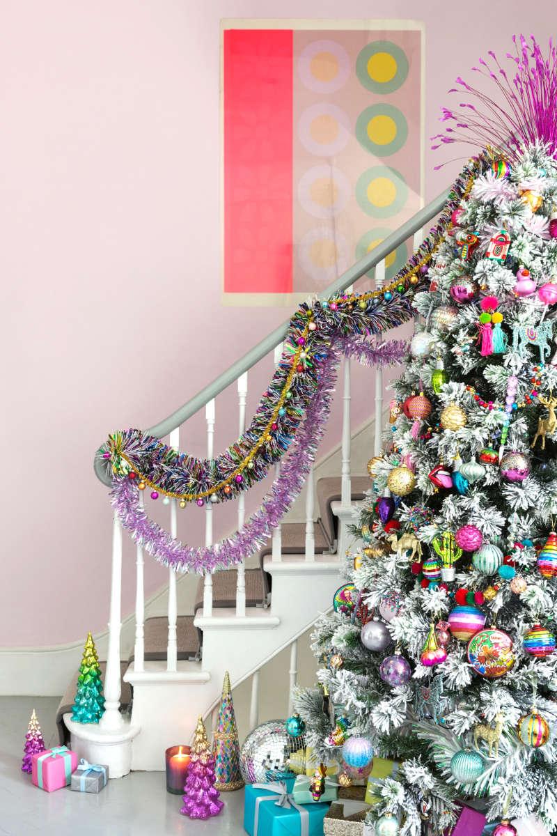 Christmas tree decor neon christmas tree decorations