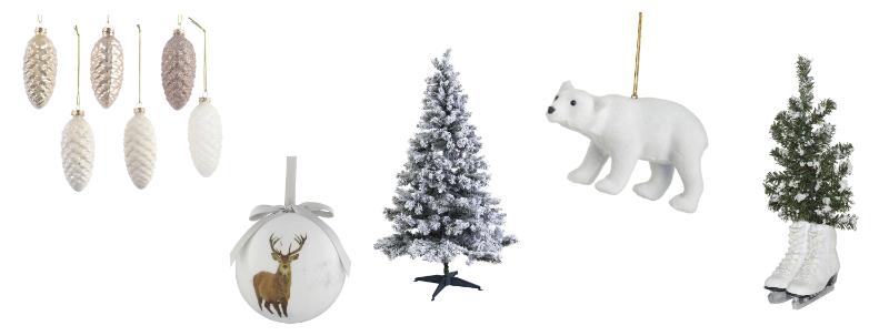 Christmas Tree decor White Christmas tree decorations