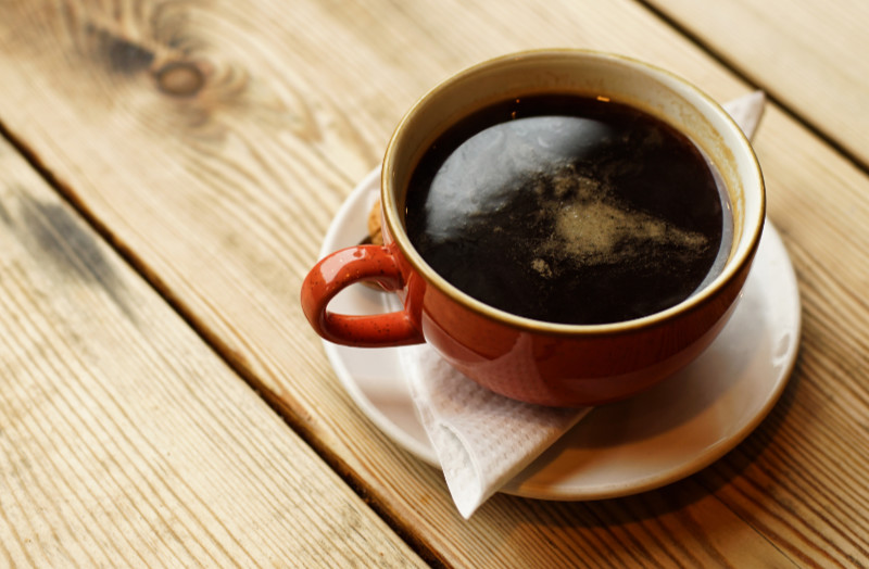 Coffee Americano, it made from espresso and hot water, UK