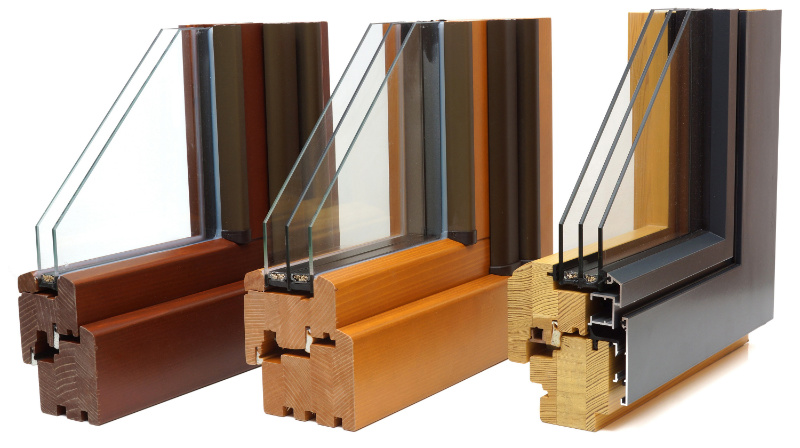 Double and triple glazed frames