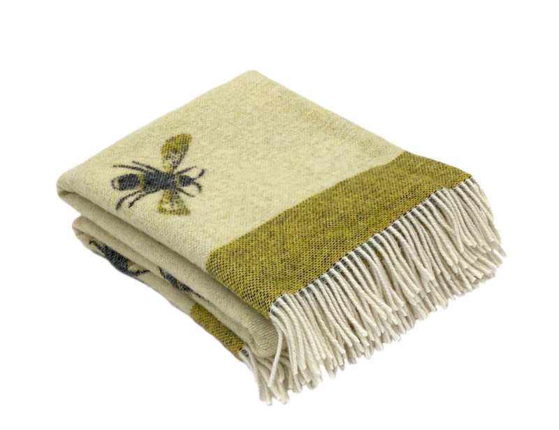 Homeware gifts Busy Bee Pure New Wool Throw, The Woolroom
