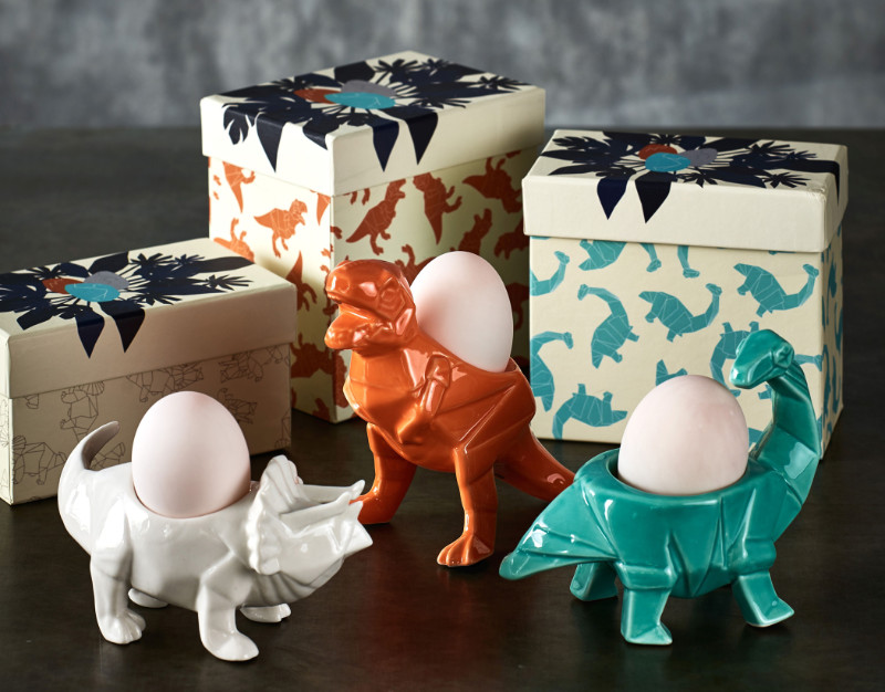 Homeware gifts dinosaur egg cups