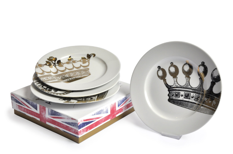 Homeware gifts Kings Road Set of 4 Plates, Joanna Wood