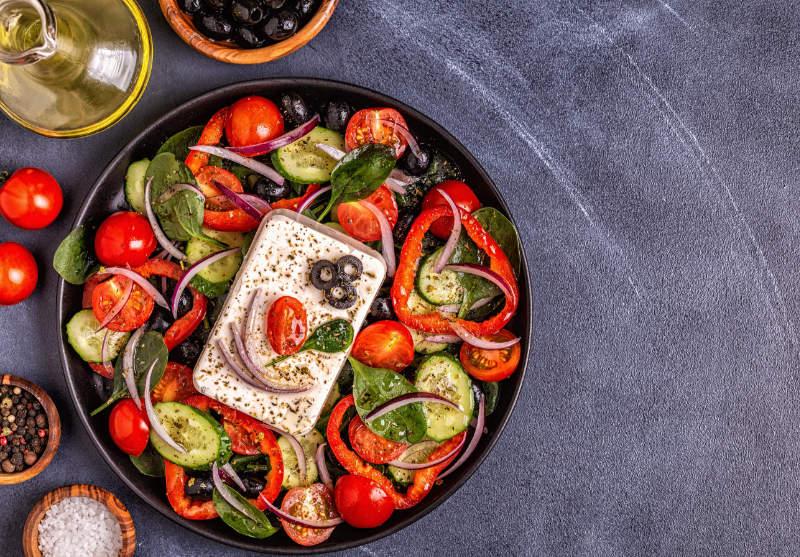 Mediterrean diet greek salad