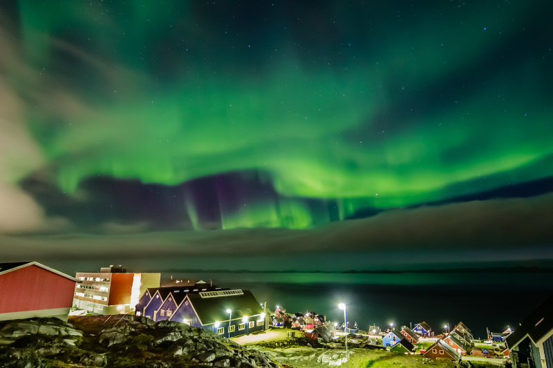 Nuuk Greenland Northern Lights