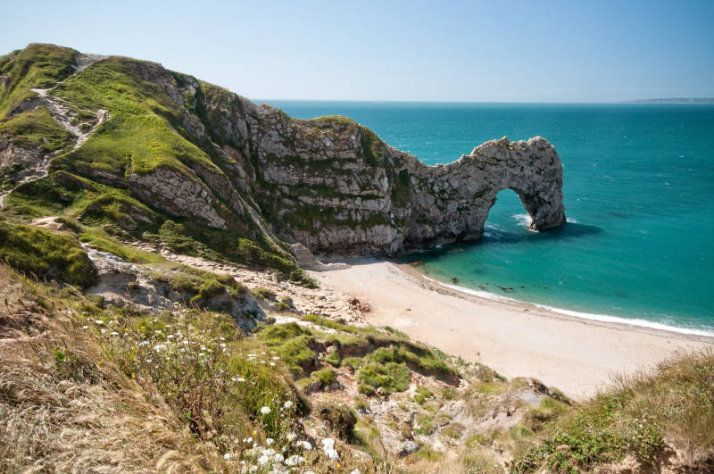 The South West Coastal Path, Dorset. Durdle Door.
