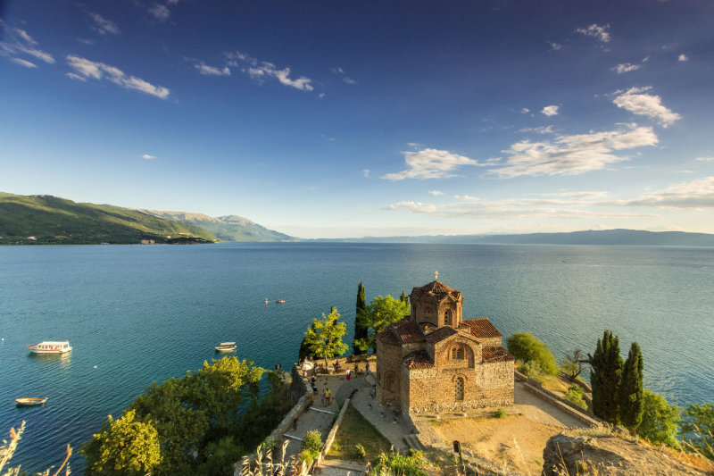 Church of Sv Jovan Kaleo at Ohrid Lake in Macedonia