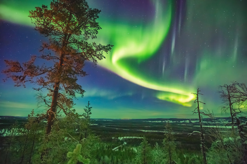Aurora borealis over Whitehorse in Canada