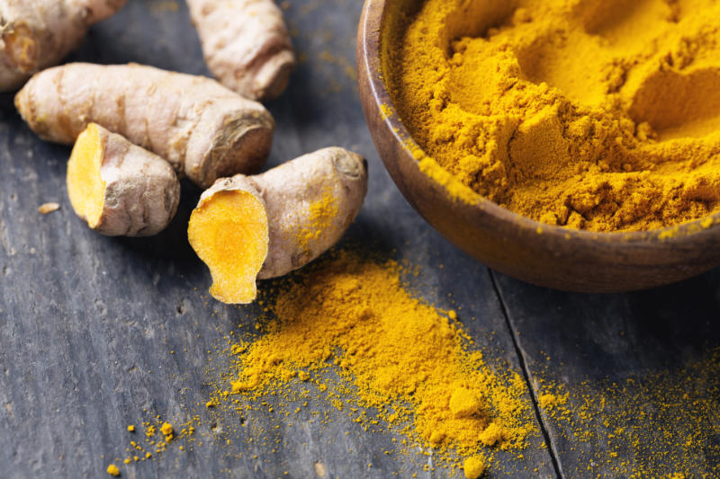 Winter wellness tips turmeric root and powder