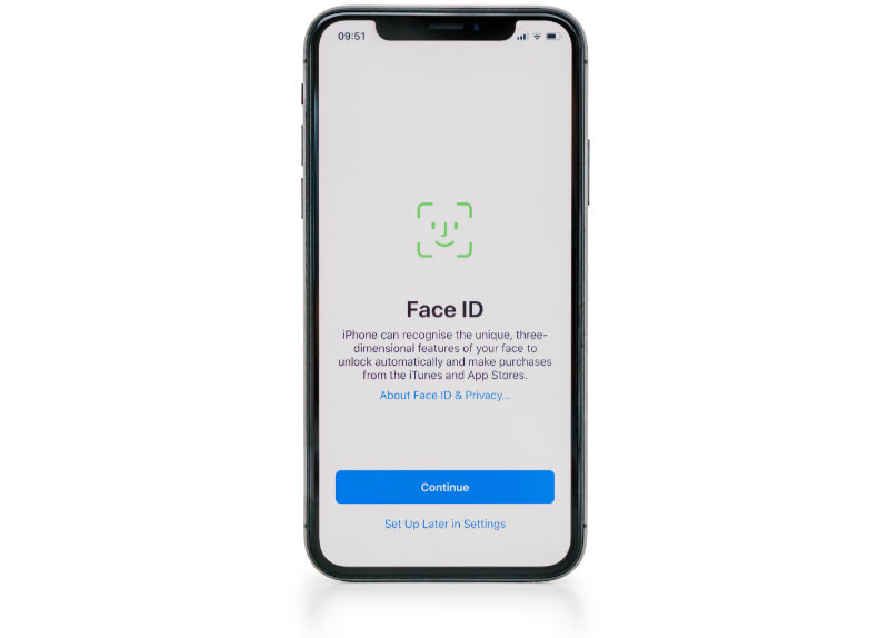 Use Touch ID or Face ID as alternatives to passwords on iPhone settings