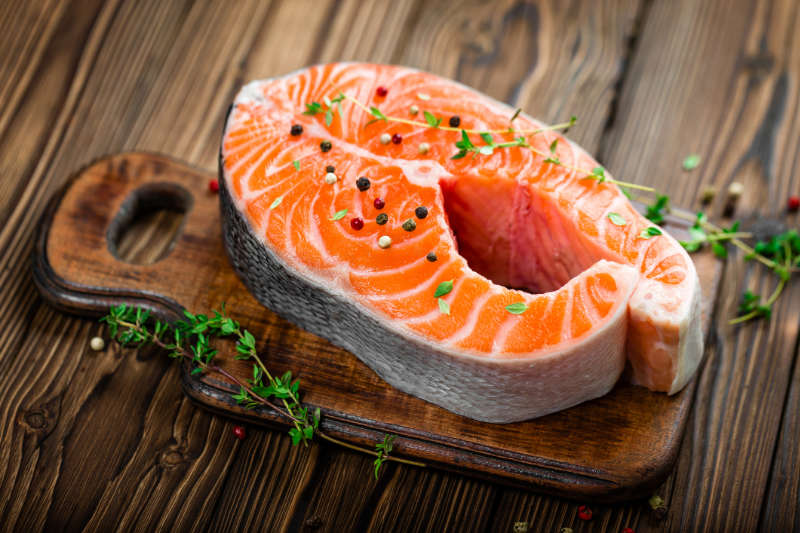 Wild salmon vitamin d