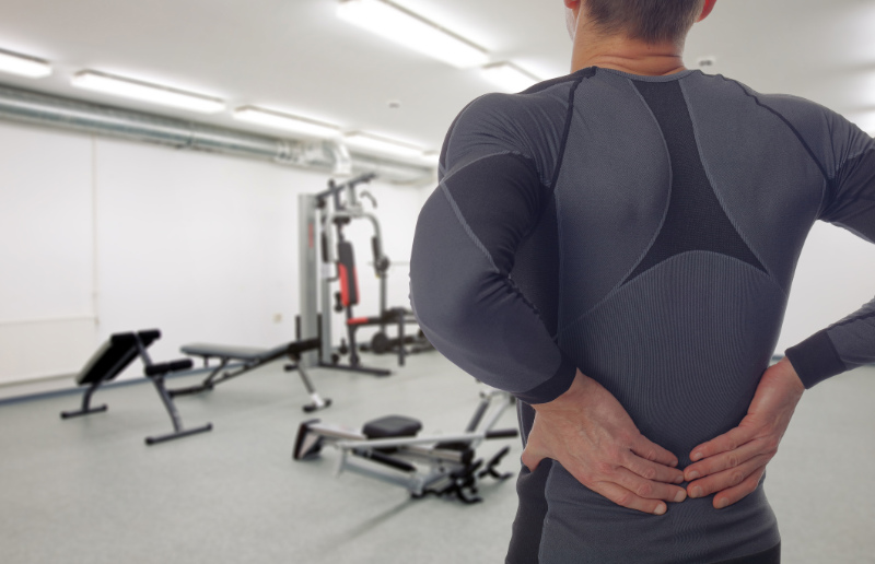 Backache causes lifting too much in the gym can cause long term damage to your back