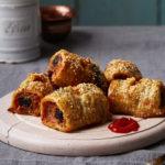Black pudding sausage rolls by Candice Brown