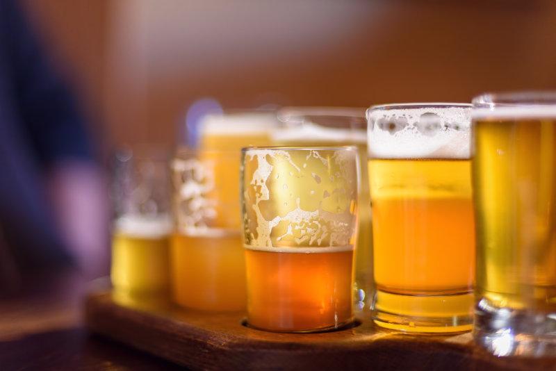 A beer flight in Chicago