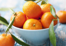 bowl of fresh clementines