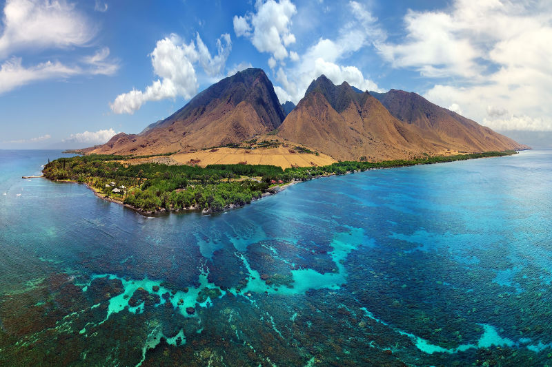 Exotic island destinations Each of Hawaii's islands began as volcanic eruptions which solidified over millions of years into vast masses of new land (Joe West/Shutterstock/BBC/PA)