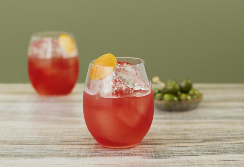 Non-alcoholic drinks Nogroni mocktail