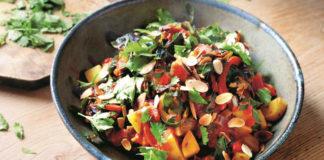Pepper, potato and chard stew