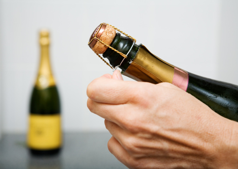Wine serving tips opening champagne