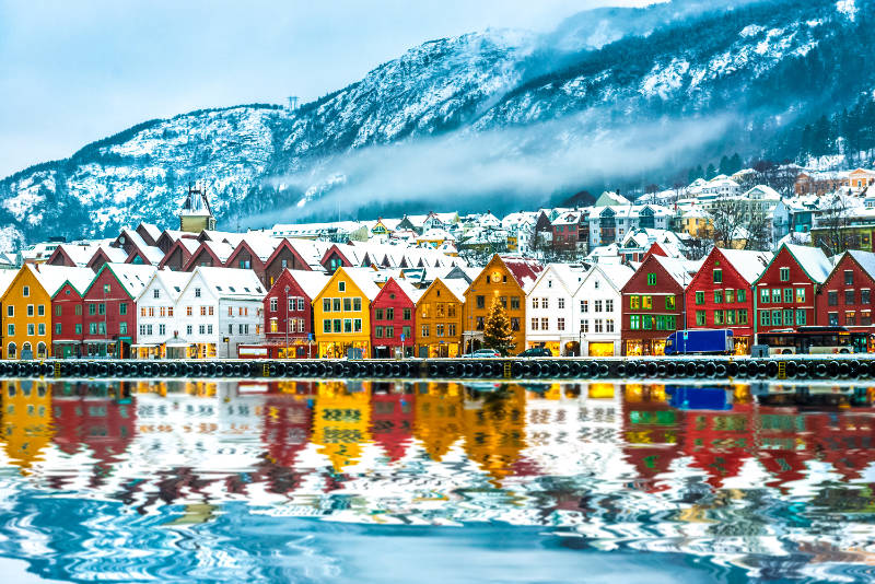 best European cities to visit in winter Bergen Norway
