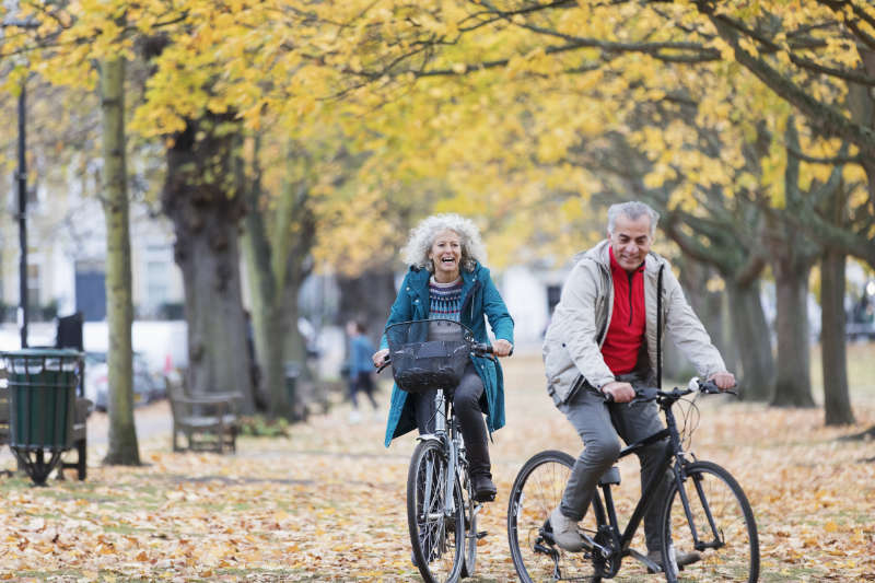 Cycling is a great way to keep fit as you age.