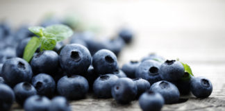 Blueberry health benefits include lowering blood pressure.