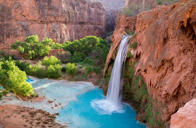 Famous waterfalls Havasu Falls, USA