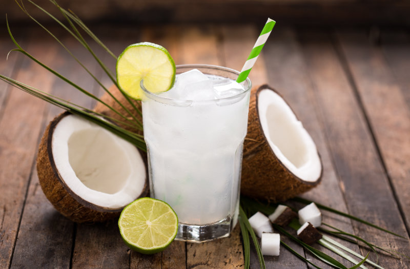 Try coconut water as one of the best hangover cure drinks.
