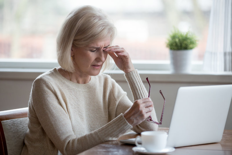 Eye health care tip - take regular breaks from using a computer