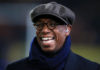 BT Sport Pundit Ian Wright during the FA Cup, fifth round replay match at the KC Stadium, Hull