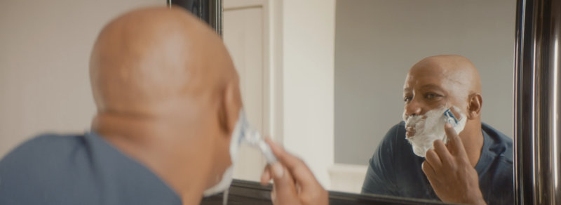 Ian Wright in a still from Gillette's 'A Letter To My Dad' campaign film (Gillette/PA)