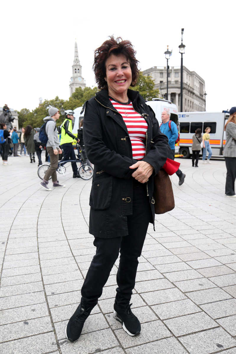 Ruby Wax during the Extinction Rebellion protest in October (Jonathan Brady/PA)