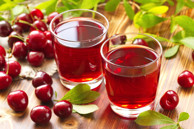 Tart cherry juice - choose the unsweetened version.