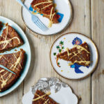 Date and almond cake with caramel sauce from Happy Vegan by Fearne Cotton