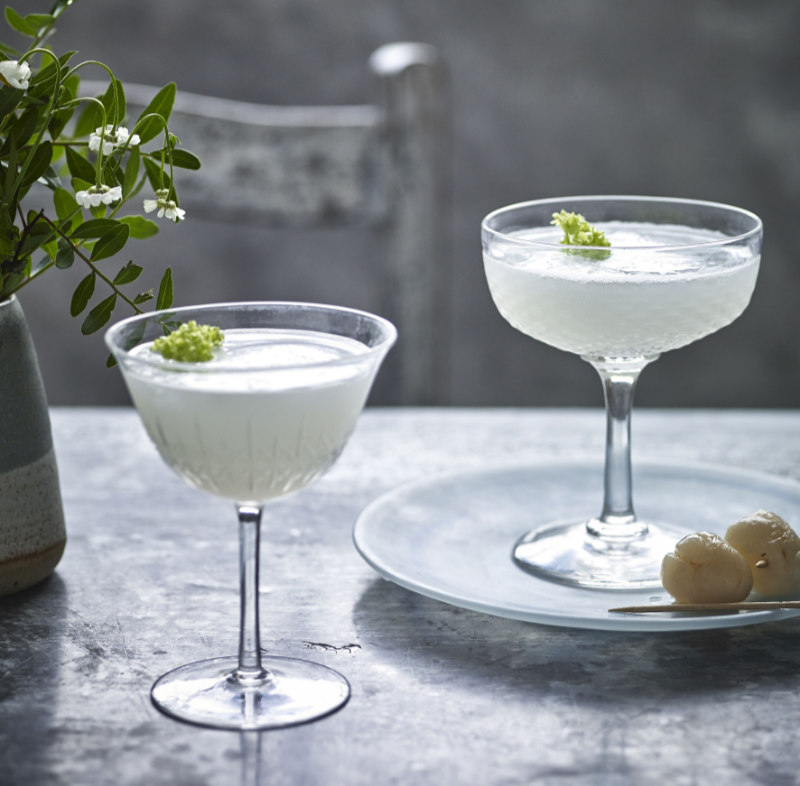 Lychee martini non-alcoholic cocktail