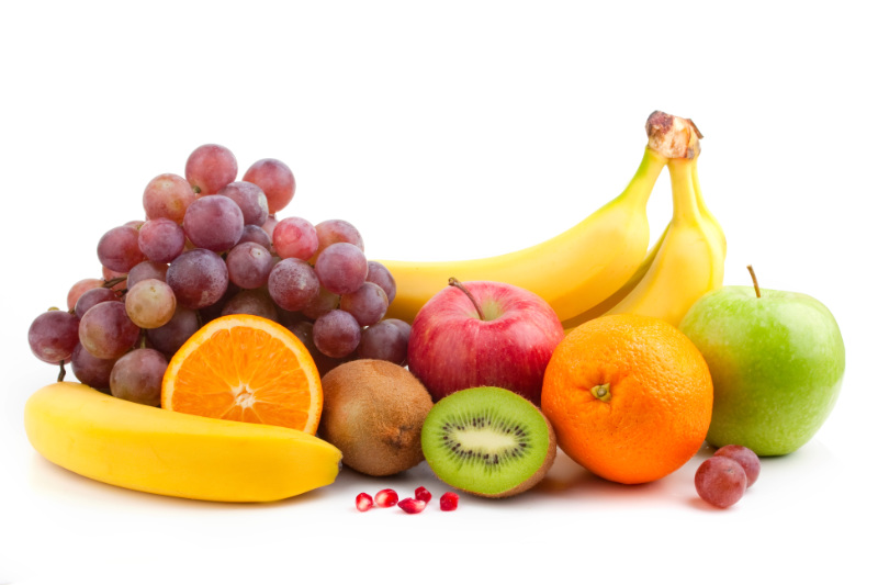 Ditch sugar watch fruit intake Fruit mix over white background