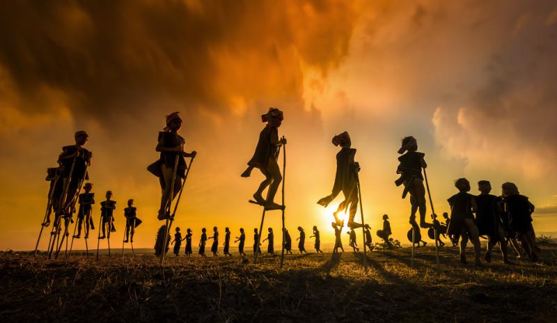 Golden Hour Vietnam stilts
