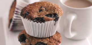 Healthy blueberry muffin main