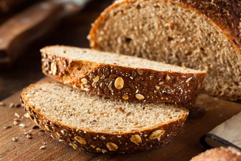 High fibre foods Organic Homemade Whole Wheat Bread Ready to Eat