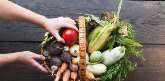 eg fresh food background, healthy market. Organic vegetables