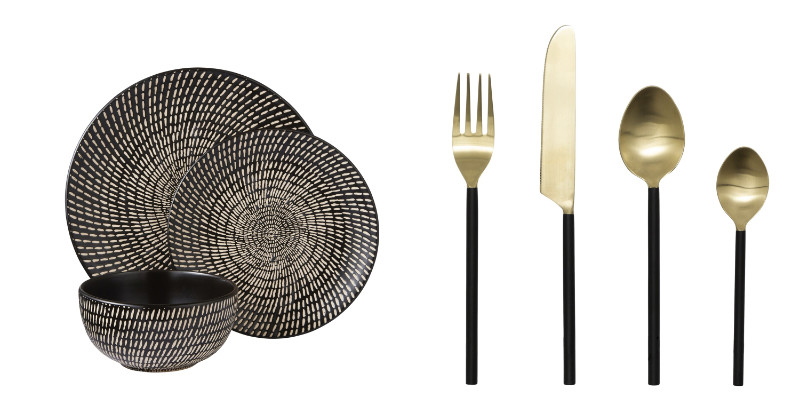 Home trends 2020 plates and cutlery